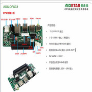 AIOSTARAOS-OPSC1 OPS子卡,OPS电脑转接板,OPS接口板,OPS对接板,OPS电脑